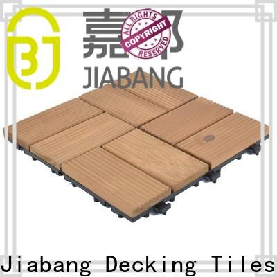 JIABANG interlocking wooden patio deck squares chic design wooden floor