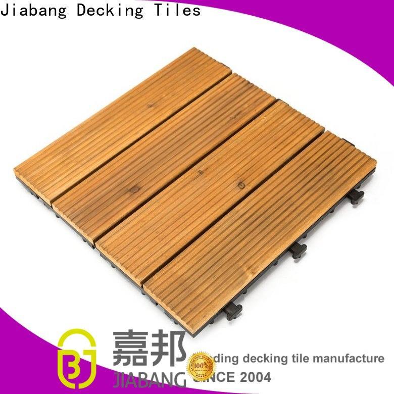 JIABANG adjustable modular wood deck tiles flooring for garden