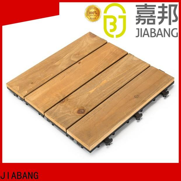 JIABANG refinishing square wooden decking tiles flooringwood for garden