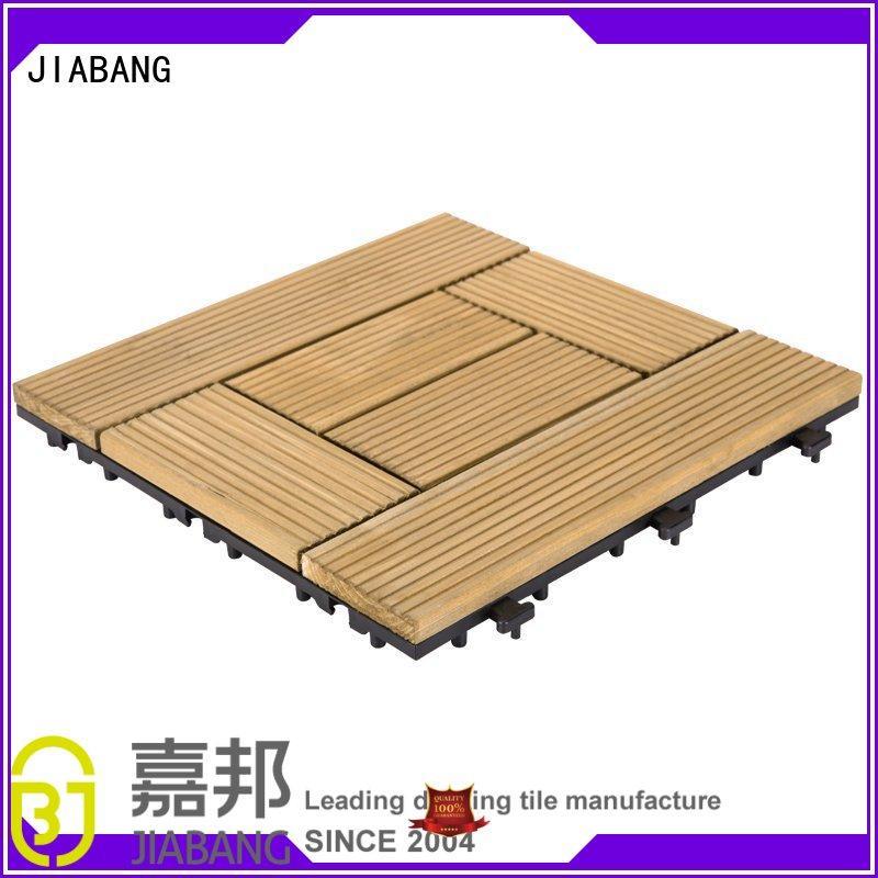interlocking hardwood deck tiles natural flooring for garden