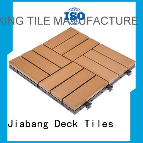 JIABANG Brand room sun plastic decking tiles manufacture