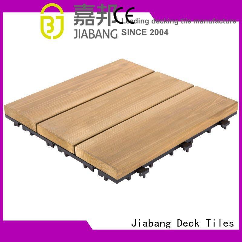 natural wood floor decking tiles diy wood for garden JIABANG