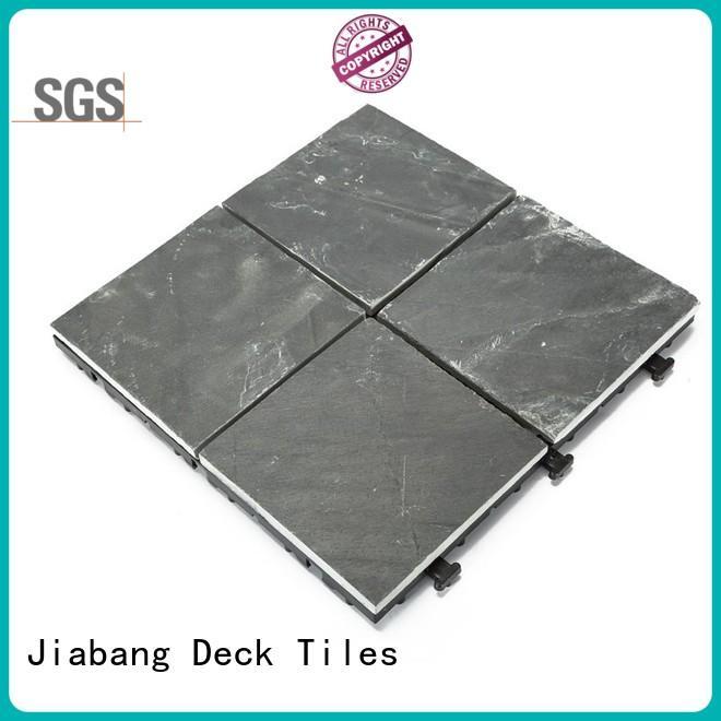 JIABANG waterproofing interlocking stone deck tiles basement decoration swimming pool