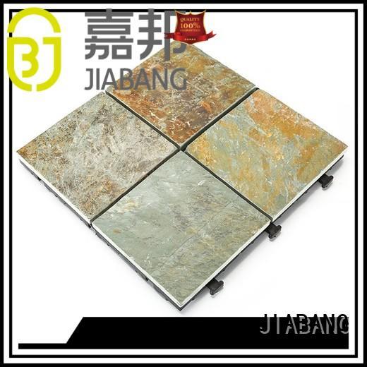 interlocking stone deck tiles stone basement decoration for patio