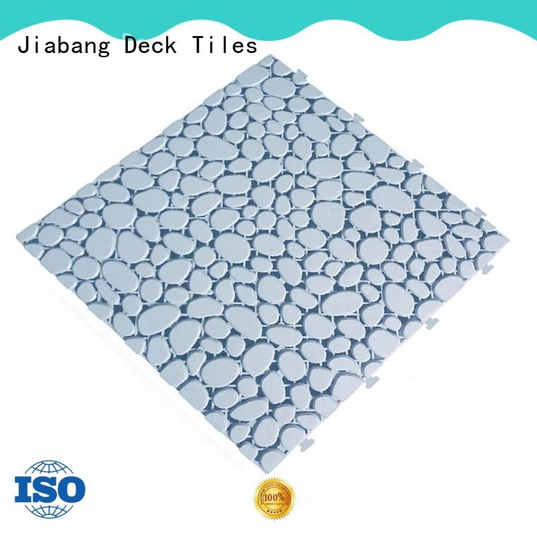 flooring outdoor plastic tiles non-slip for customization