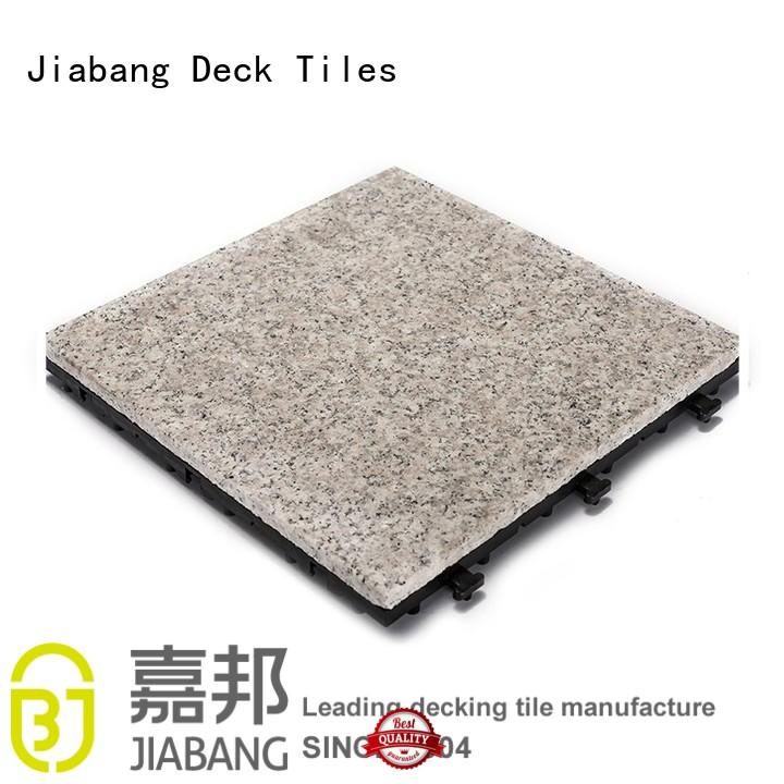 highly-rated interlocking granite deck tiles from top manufacturer for porch construction JIABANG