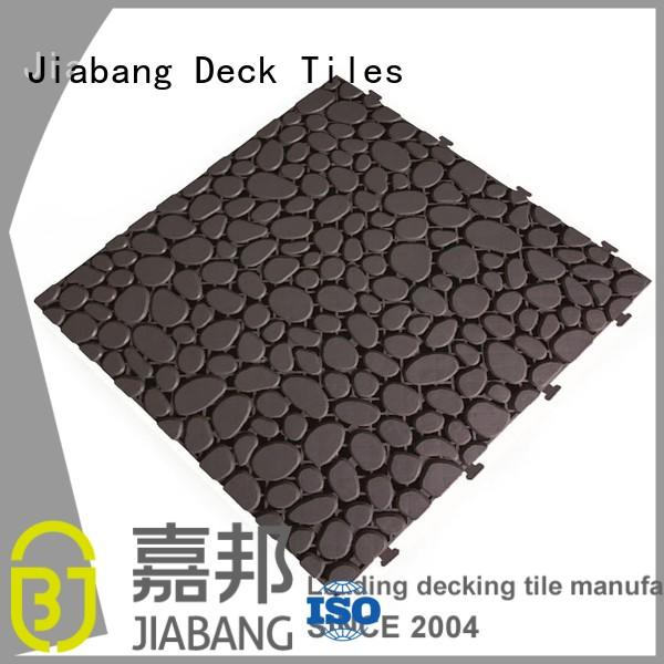 JIABANG decorative outdoor plastic tiles non-slip kitchen flooring
