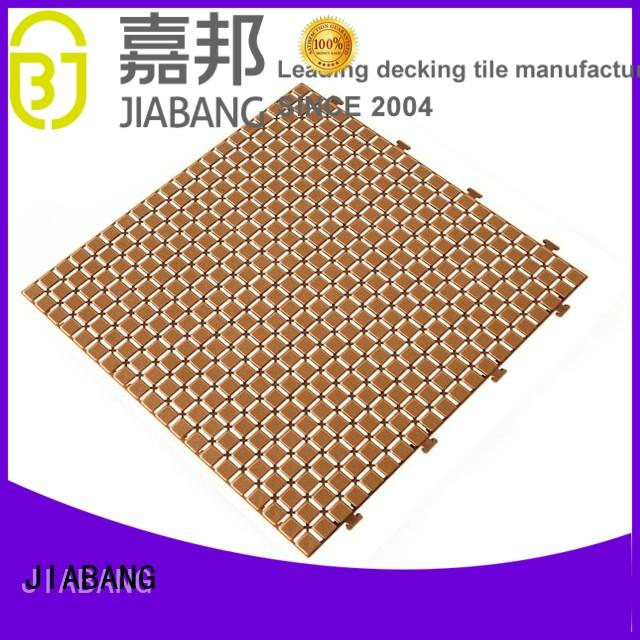 JIABANG bathroom floor outdoor plastic tiles non-slip kitchen flooring
