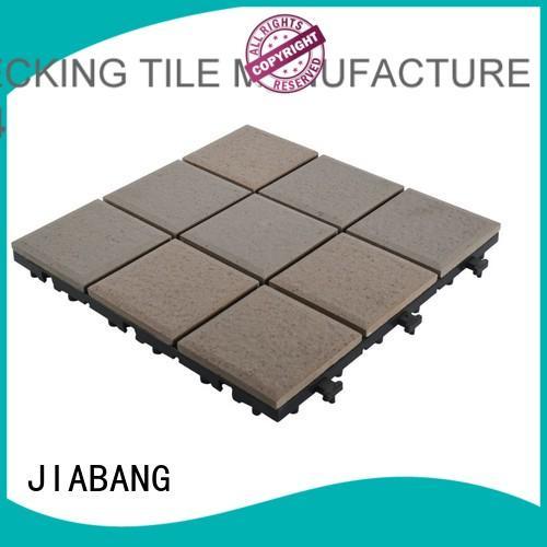 ODM interlocking ceramic deck tiles custom size for patio decoration
