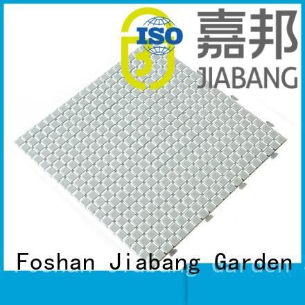 plastic floor tiles outdoor deck sand JIABANG Brand non slip bathroom tiles