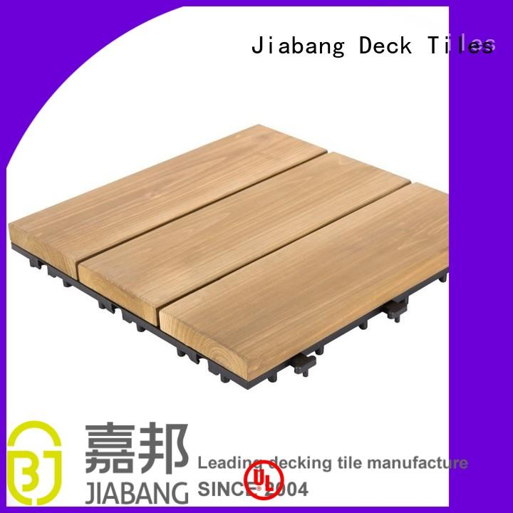 square wooden decking tiles outdoor design balcony JIABANG Brand company