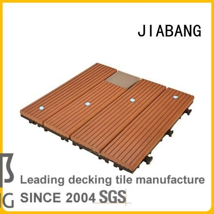wpc snap together deck tiles eco-friendly home JIABANG