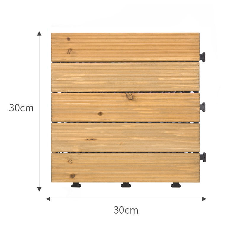 JIABANG natural interlocking wood deck tiles long size for garden-1