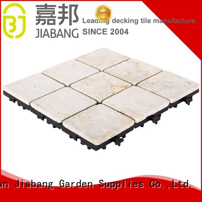 JIABANG interlocking outdoor travertine pavers at discount for garden decoration