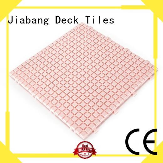 JIABANG hot-sale plastic interlocking deck tiles for wholesale