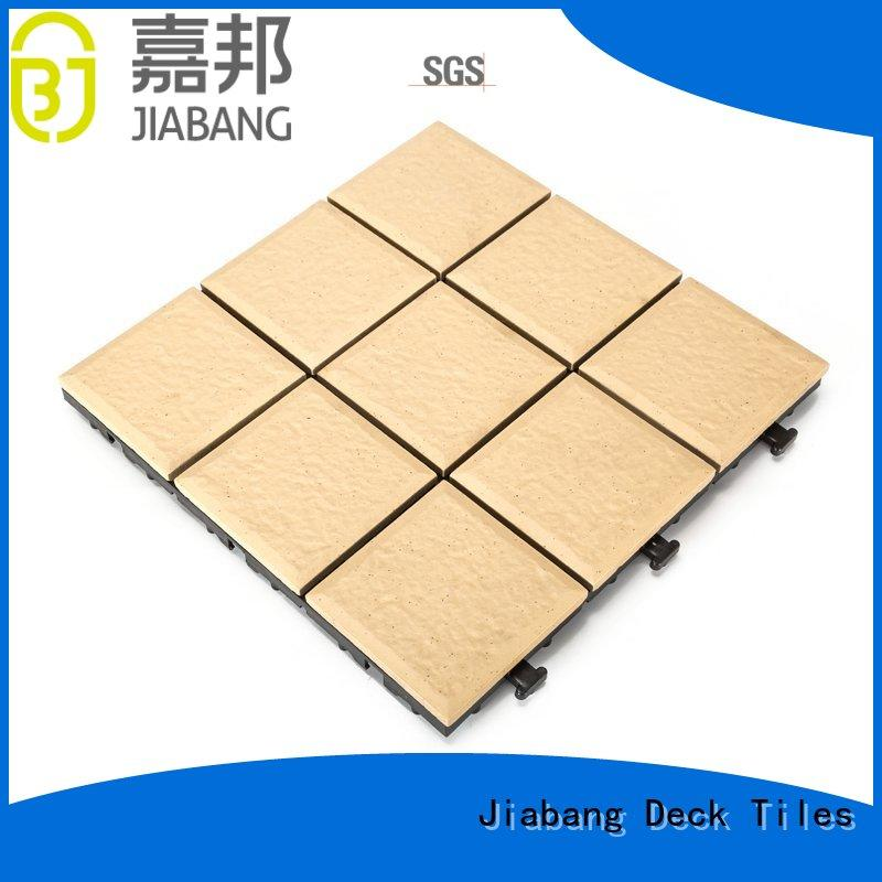 flooring outdoor ceramic deck tiles exhibition at discount JIABANG