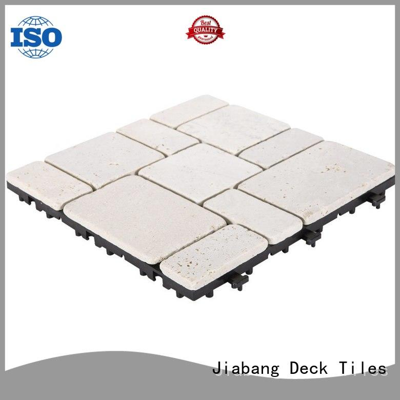 JIABANG limestone tumbled travertine floor tiles at discount for playground