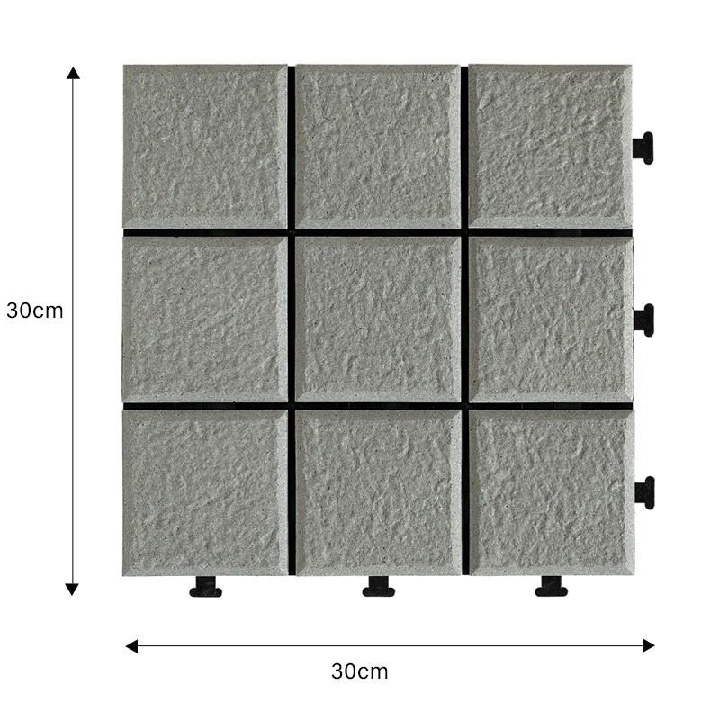 12x12 porcelain porch interlocking Tiles JB5006-1