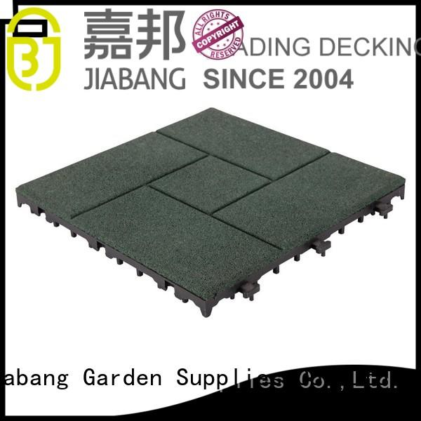 tiles balcony interlocking rubber mats square JIABANG Brand company