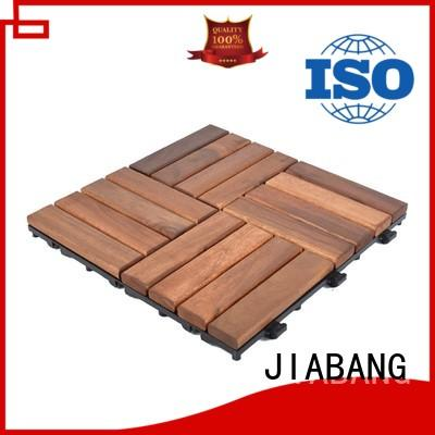 JIABANG anti-slip acacia wood tile cheapest factory price easy installation