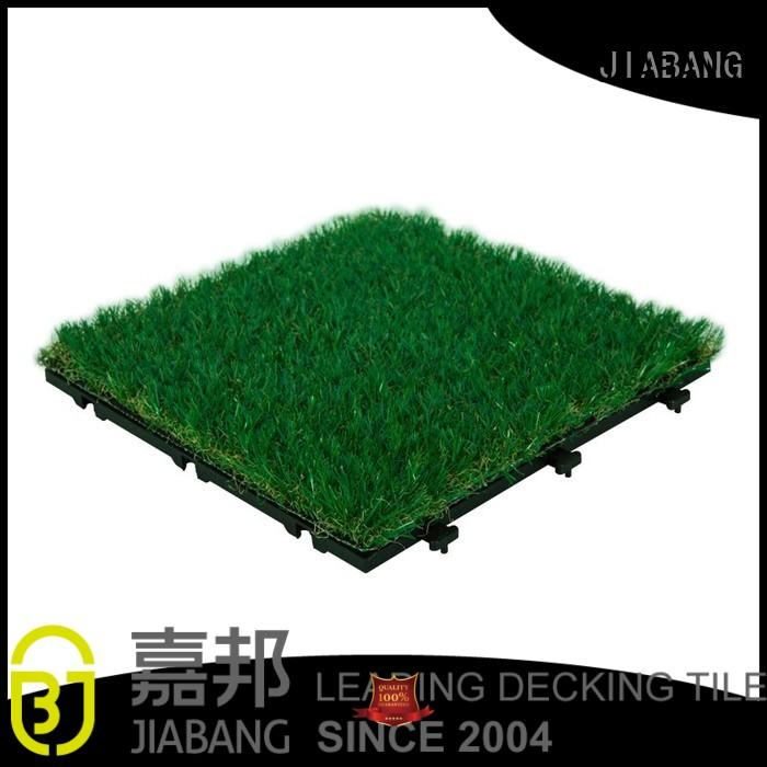 JIABANG professional artificial grass decking tiles hot-sale balcony construction