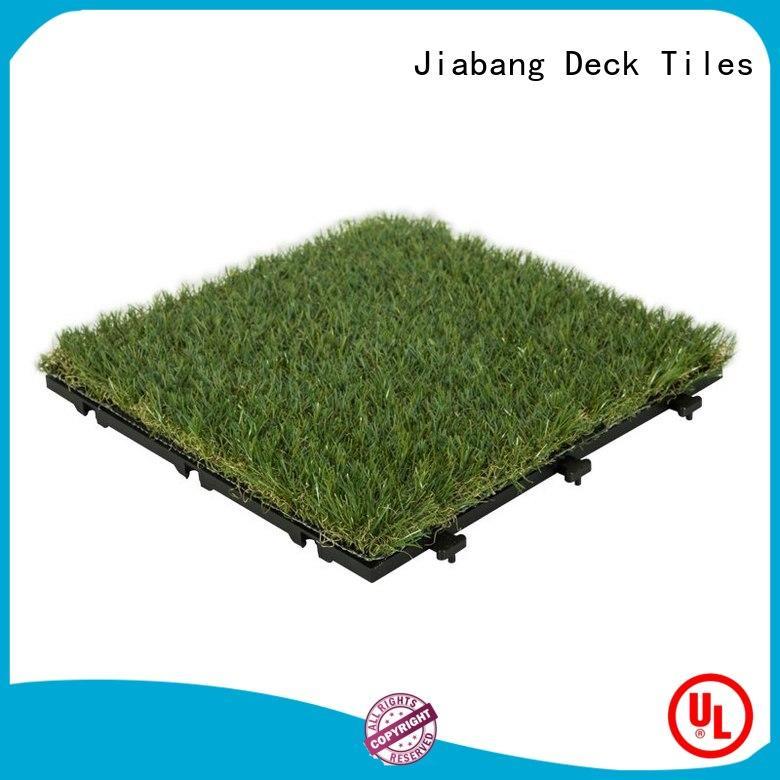 JIABANG landscape deck tiles on grass balcony construction
