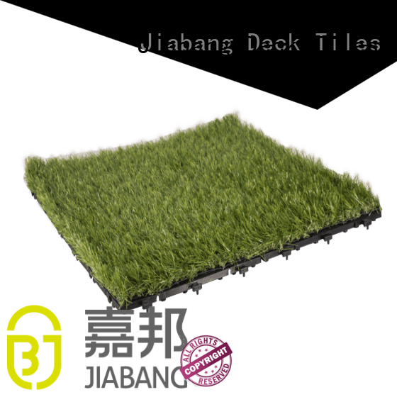 landscape plastic grass tiles at discount garden decoration JIABANG