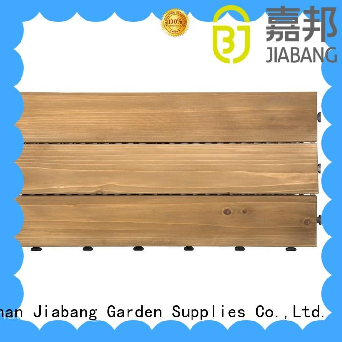 JIABANG adjustable interlocking wood deck tiles wood deck for balcony