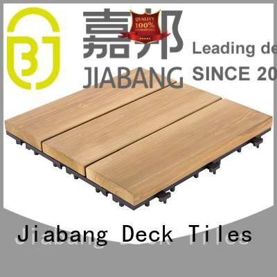 JIABANG refinishing interlocking wood deck tiles flooring wooden floor