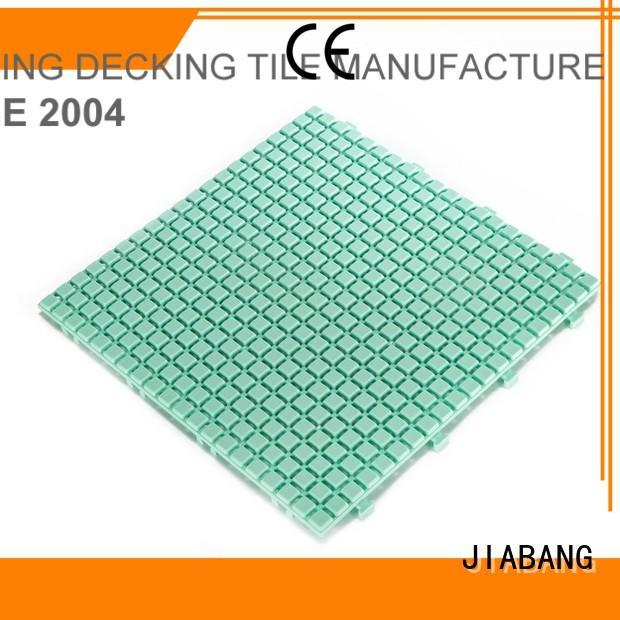 plastic floor tiles outdoor coral floor JIABANG Brand company