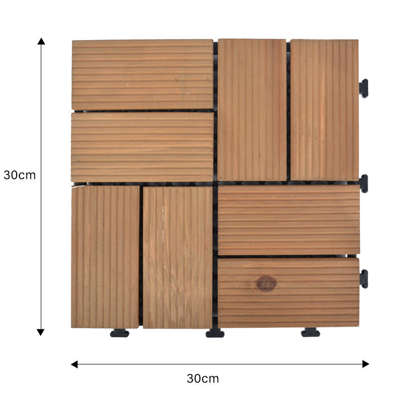 Garden decking fir wooden floor tiles  S8P3030BC-1