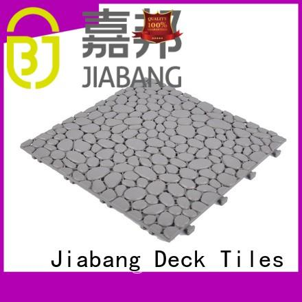 JIABANG interlocking plastic patio tiles for customization