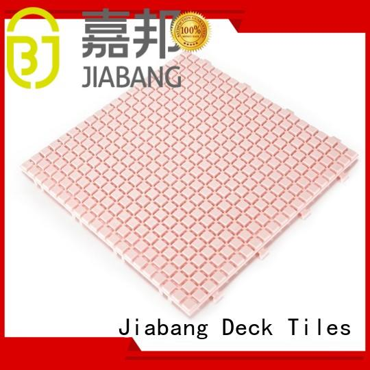 black flooring plastic floor tiles outdoor JIABANG manufacture