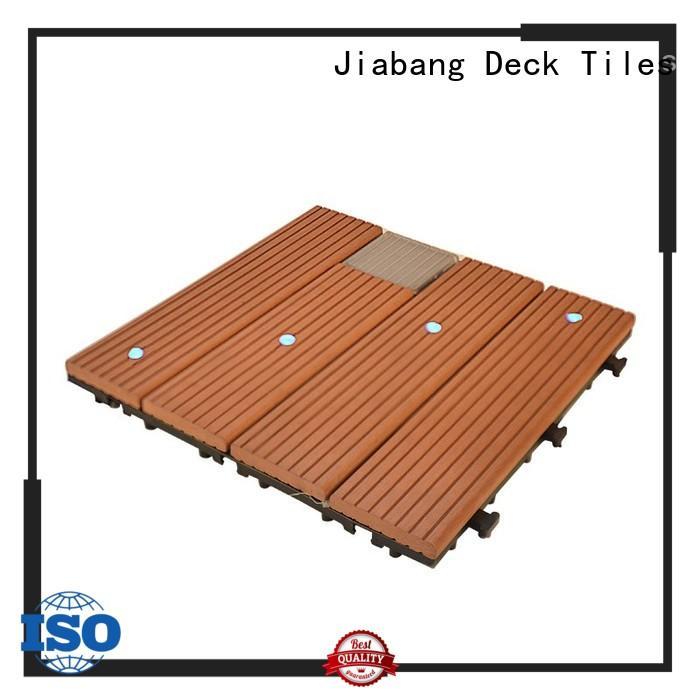JIABANG wpc patio deck tiles decorative garden lamp