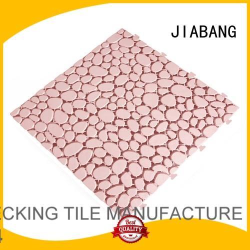 JIABANG Brand white mat plastic floor tiles outdoor