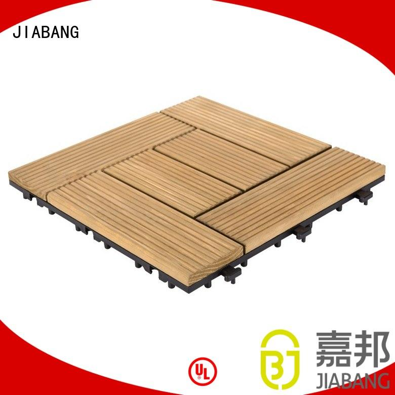 JIABANG Brand deck floor patio square wooden decking tiles