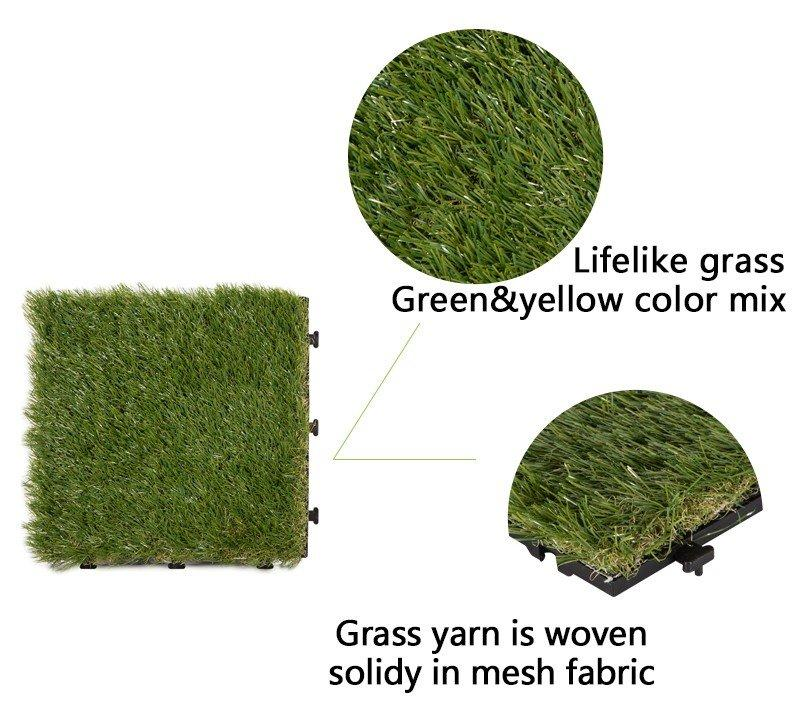 JIABANG flooring artificial grass tiles hot-sale for garden-3