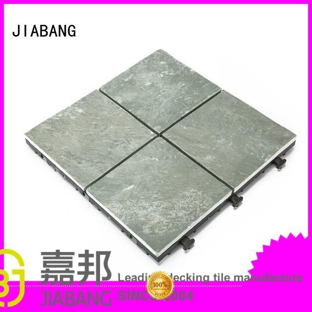 Quality JIABANG Brand tile interlocking stone deck tiles stones diy real