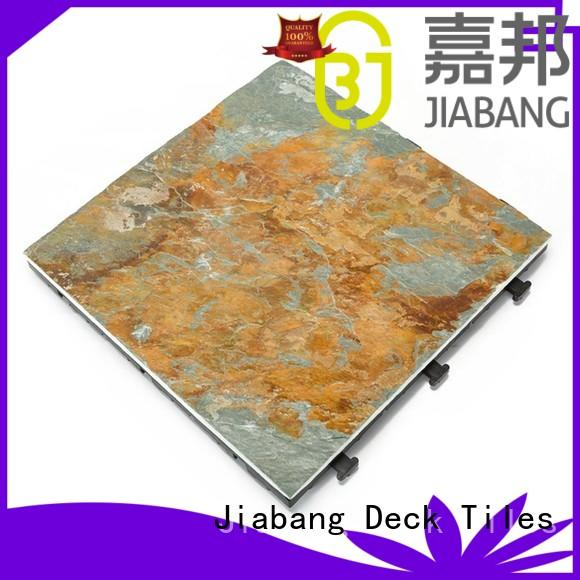 Outdoor natural deck tileslate for swimming pool surround JBD001
