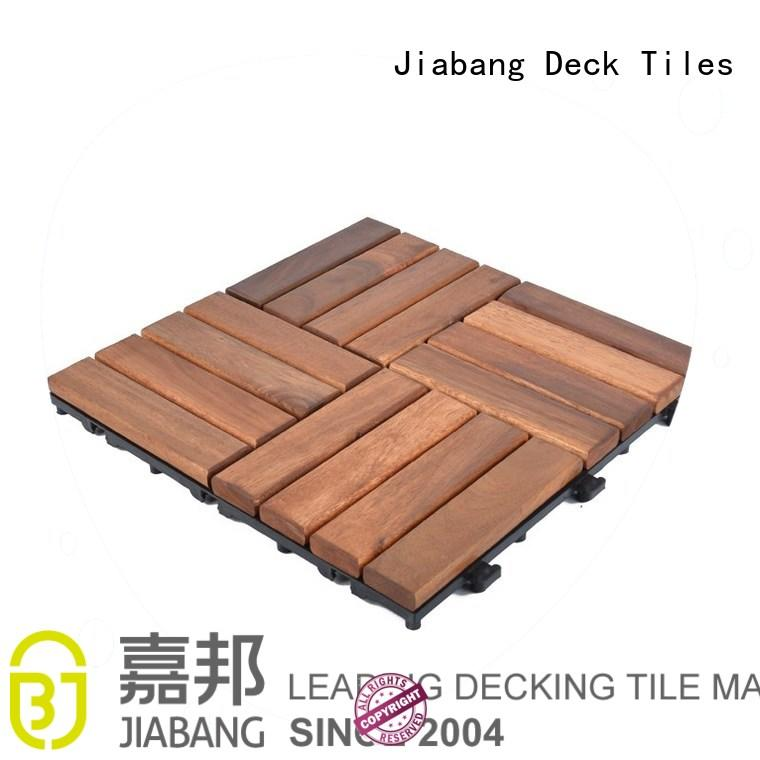 solid wood acacia wood outdoor flooring easy installation JIABANG