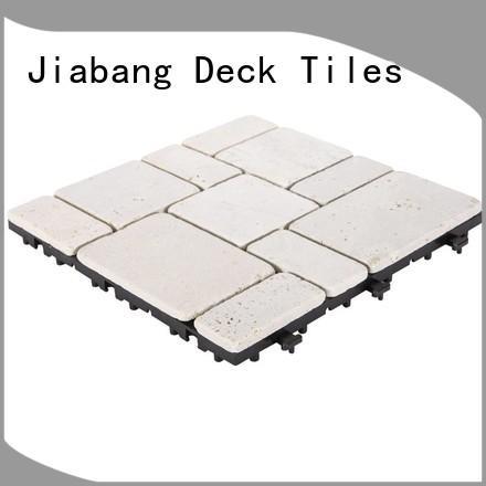 JIABANG hot-sale white travertine floor tile outdoor from travertine stone