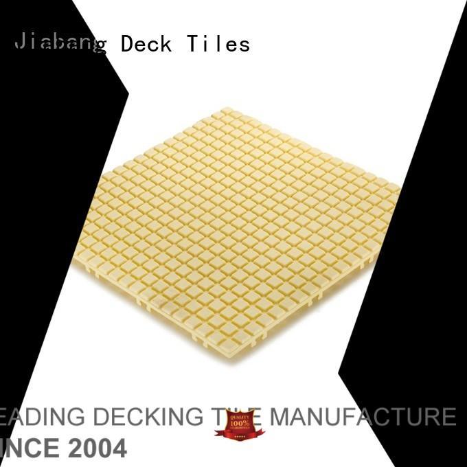 JIABANG Brand yellow coral off custom plastic floor tiles outdoor