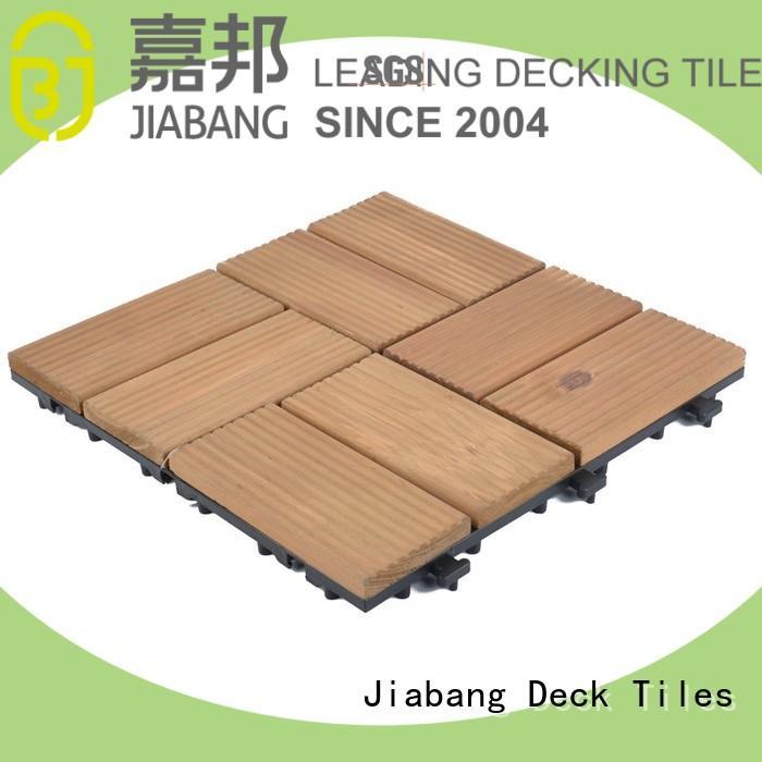 interlocking wood deck tiles diy wood for garden JIABANG