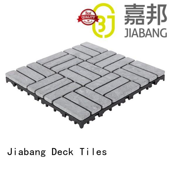 Easy install decking tile 30cm for playground TTS27P-GY
