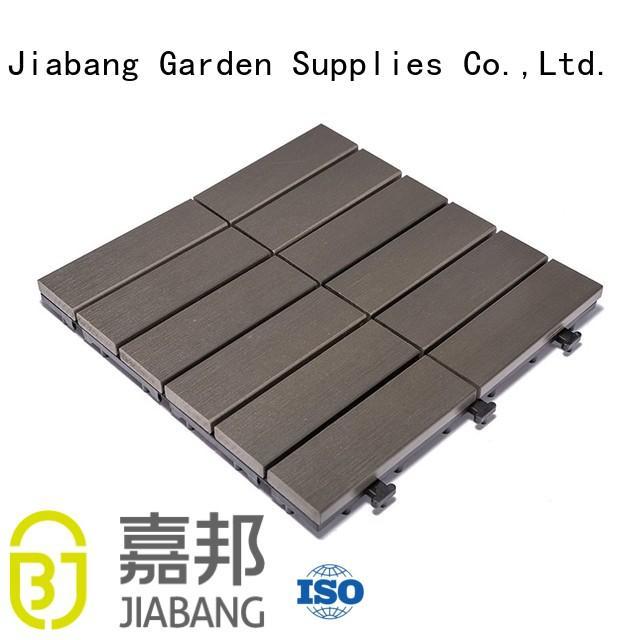 JIABANG high-end plastic decking tiles pvc gazebo decoration