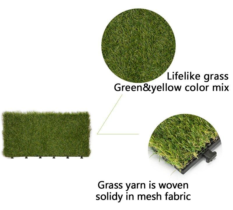 Patio floor artificial grass deck tiles G001-2-3