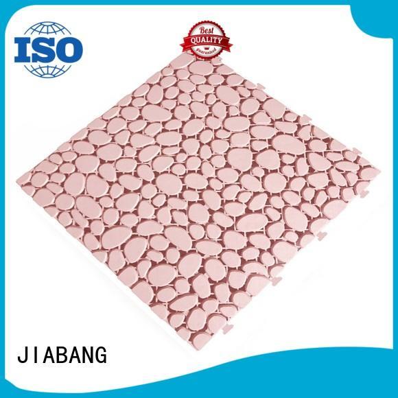 JIABANG flooring interlocking plastic patio tiles for customization