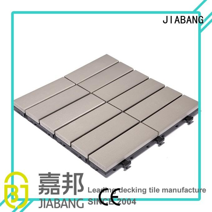 Quality JIABANG Brand pvc deck tiles lightweight decking