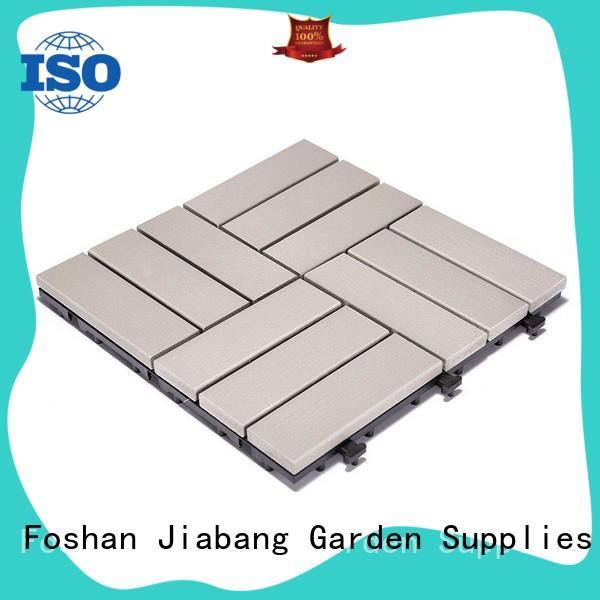 JIABANG light-weight plastic decking tiles anti-siding gazebo decoration