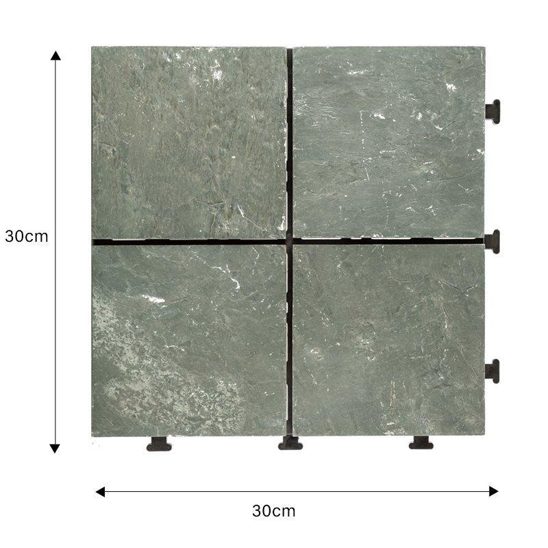 Outdoor natural interlocking slate stone tile online JBT003-1
